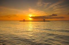 Пляж Sanur, Бали Стоковые Изображения