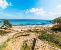 Пляж Scoglio di Peppino в весеннем времени Стоковое фото RF