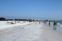 Пляж Siesta, Флорида Стоковые Изображения
