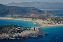 Пляж Simos' в острове Elafonisos Стоковое Изображение
