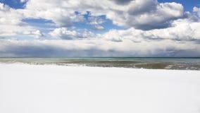 Пляж Snowy Батуми, Georgia Стоковая Фотография