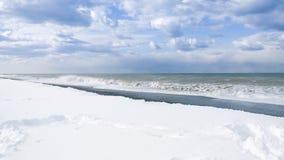Пляж Snowy Батуми, Georgia Стоковое Фото
