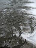 Пляж Snowy Стоковое Изображение