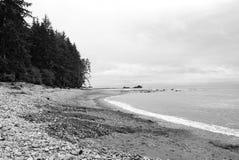 Пляж Sombrio, ДО РОЖДЕСТВА ХРИСТОВА Стоковая Фотография