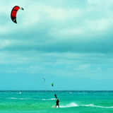 Пляж Sotavento в Фуэртевентуре, Канарских островах, Испании Стоковое Фото