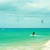 Пляж Sotavento в Фуэртевентуре, Канарских островах, Испании Стоковые Фотографии RF