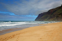 Пляж - SP Polihale Стоковые Фотографии RF