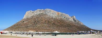 Пляж Stavros стоковые фотографии rf