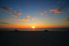 Пляж Sunest Стоковое Изображение