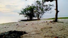 Пляж Tanjung Tinggi - остров Belitung стоковое изображение rf