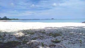 Пляж Tanjung Tinggi - остров Belitung стоковое изображение
