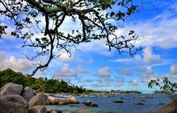 Пляж Tanjung Tinggi Стоковые Изображения RF