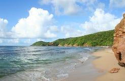 Пляж Tartane в Мартинике Стоковое Фото