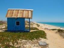 Пляж Tavira Остров Tavira algarve Португалия Стоковая Фотография RF