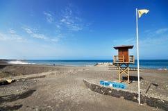 Пляж Tazacorte в Ла Palma, Канарских островах, Испании Стоковое фото RF