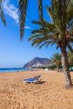 Пляж Teresitas в Tenerife - Канарских островах Стоковая Фотография