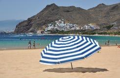 Пляж Teresitas острова Тенерифе. Cana Стоковые Изображения RF
