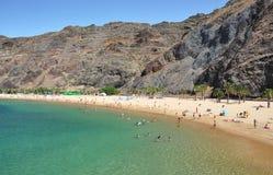 Пляж Teresitas. Тенерифе, Canaries Стоковое Изображение RF