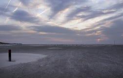 Пляж, Terschelling Стоковые Изображения