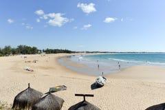 Пляж Tofo - Vilankulo, Мозамбик Стоковое Изображение RF