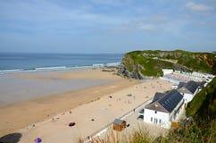 Пляж Tolcarne, Newquay стоковая фотография rf