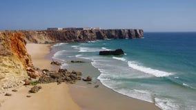 Пляж Tonel Алгарве сток-видео