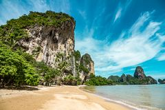 Пляж Tonsai в Таиланде Стоковые Изображения RF
