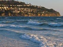 Пляж Torrance и полуостров Palos Verdes, Калифорния Стоковое Изображение