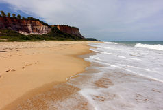 Пляж Taipe - бразильский тропический пляж Стоковая Фотография