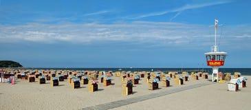 Пляж Travemunde Стоковое Изображение