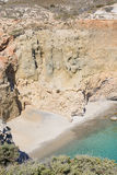 Пляж Tsigrado, Melos, Греция Стоковое фото RF