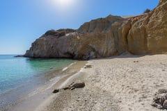 Пляж Tsigrado, Melos, Греция Стоковые Фотографии RF