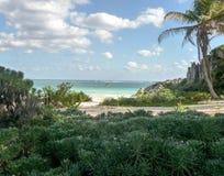 Пляж Tulum Стоковая Фотография