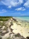 пляж unspoiled Стоковые Изображения