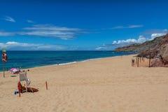 Пляж Valmitao в Lourinha, Португалии Стоковые Изображения RF