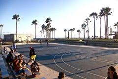 Пляж Venise, Санта-Моника, Калифорния стоковое фото rf