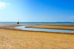 Пляж Vilanculos, Мозамбик Стоковое Изображение