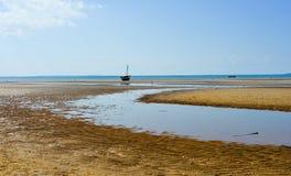 Пляж Vilanculos, Мозамбик Стоковое Изображение RF