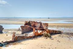Пляж Vilanculos, Мозамбик Стоковые Изображения
