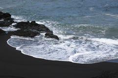 Пляж Vulcanic на Ла Palma стоковое фото
