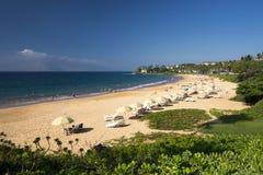 Пляж Wailea, южный берег Мауи, Гаваи Стоковые Изображения