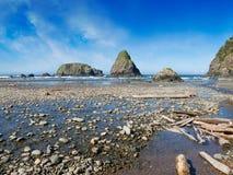 Пляж Whaleshead, Curry County, южный Орегон Стоковые Изображения RF