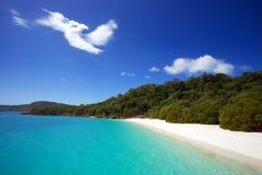 Пляж Whitehaven в Whitsundays Стоковое Изображение