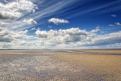 Пляж wirral Великобритания Leasowe стоковые изображения