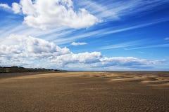 Пляж wirral Великобритания Leasowe стоковые фотографии rf