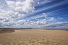 Пляж wirral Великобритания Leasowe стоковые фото