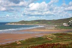 Пляж Woolacombe Стоковое фото RF