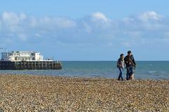 Пляж Worthing, Великобритания стоковые изображения rf