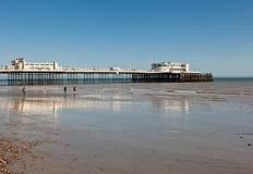Пляж Worthing, западное Сассекс, 17-ое марта 2014 Стоковые Изображения RF