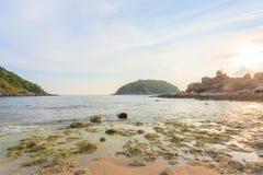 Пляж Yanui в Пхукете, Таиланде стоковое изображение